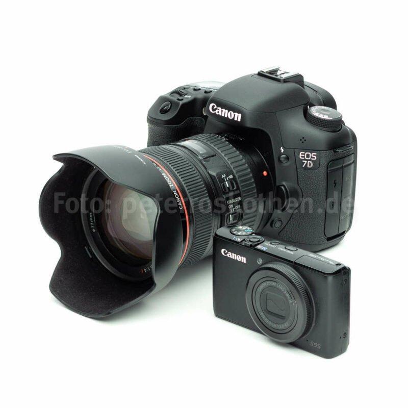 Digitale Kamera Spiegelreflex vs. Kompakte