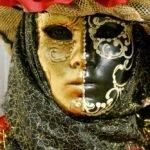 Karneval in Venedig Masken, Fotograf Peter Roskothen