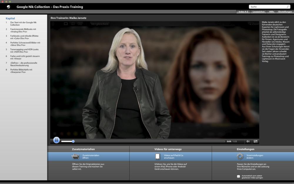 DVD Video Training Google Nik Collection mit Trainerin Maike Jarsetz