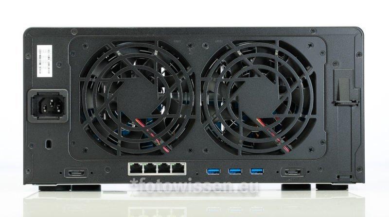 Synology DS1817+ Geschwindigkeit Rückseite Anschlüsse LAN, USB, eSata