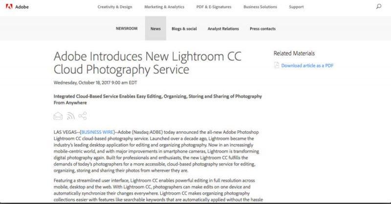 Upgrade: Lightroom ist tot! Zukünftig keine Lightroom Kaufversion