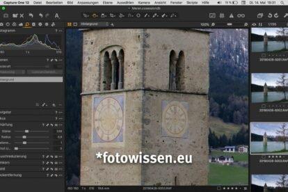 Capture One Prof für Fujifilm erlaubt das einfache und schnelle Schärfen ganz ohne Umwandlungen und Lightroom Würmer