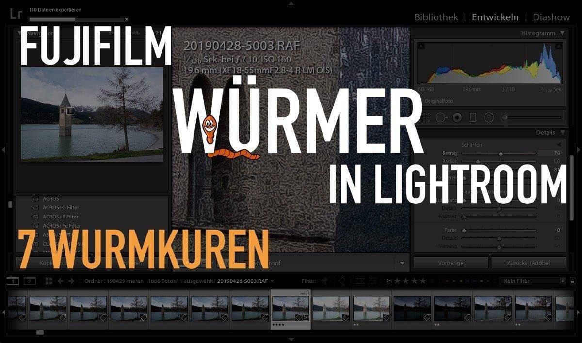 Fujifilm Wurmkur – Fuji Würmer in Lightroom – 7 Wurmkuren für Fuji RAW Lightroom
