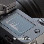 Schulterdisplay Fujifilm GFX 100 - Histogramm