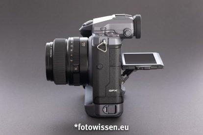 Test Fujifilm GFX 100 - Klappdisplay mit Touchfunktion