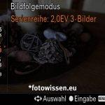 Sony RX100VA - Screenshot vom Sucher - Serienaufnahme mit AEB +-2EV, 3 Bilder