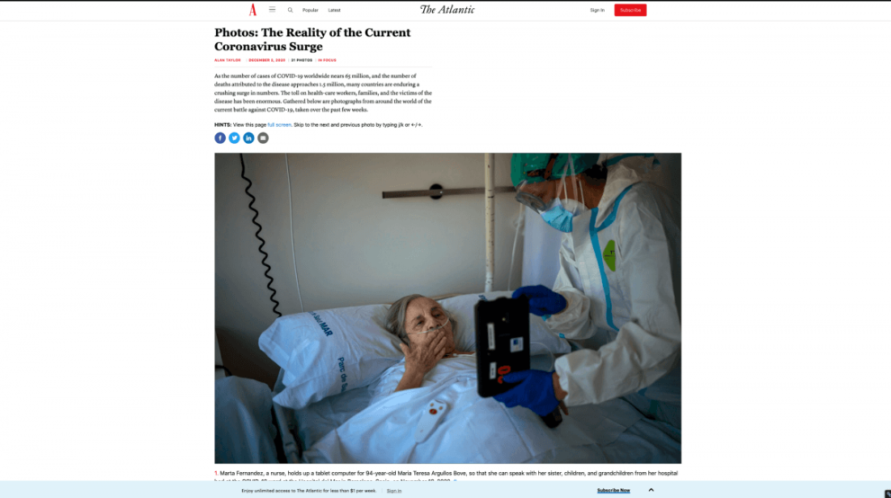 Berührende Fotos und Geschichten rund um Covid
