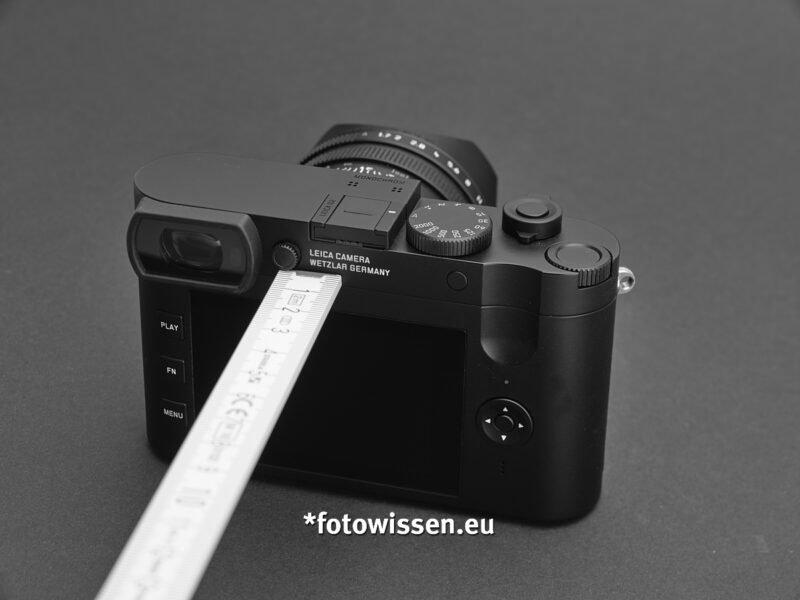 Dioptrienausgleich Fehlkonstruktion - Leica Q2 Monochrom