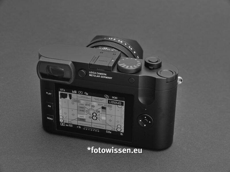 Rückseite Leica Q2 Monochrom